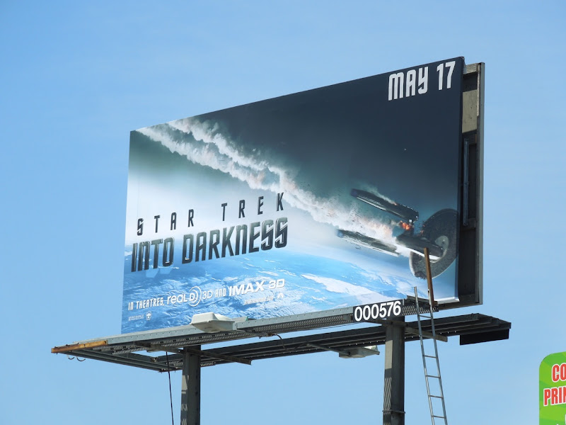 Star Trek Into Darkness film billboard