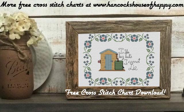 I Like Big Butts I Cannot Lie! Free Geek Gardener Water Butt Cross Stitch Chart #crossstitch chart #free #download for a #gardener