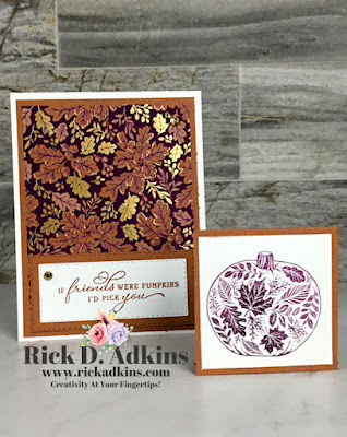 Check out today's card that doubles as a bookmark as well both showcases the Pretty Pumpkins Stamp Set.  Click here for more