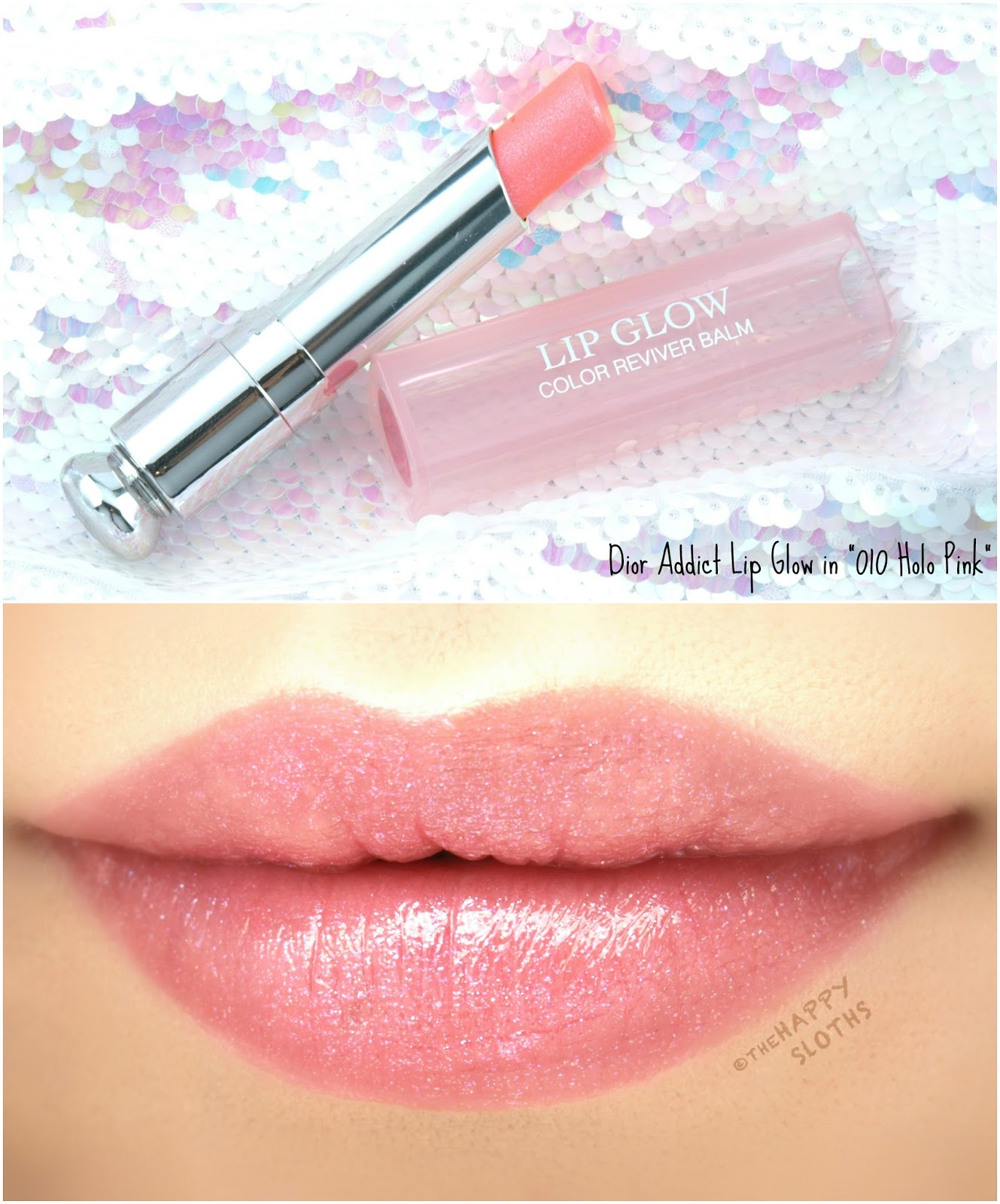 "Dior Addict Lip Glow Color Reviver Balm in ""010 Holo Pink"": Review and Swatches"
