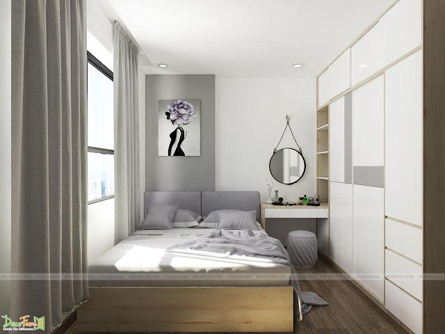 Thiết kế và thi công từ xây dựng thô cho đến hoàn thiện nội thất căn hộ chung cư Saigon South Residences Phú Mỹ Hưng - SSR - Phòng Master