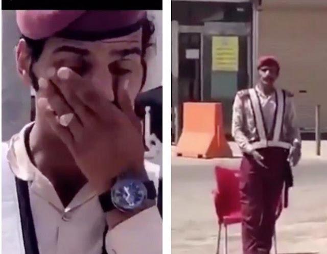 حارس أمن يحظى بتعاطف السعوديين في أول أيام العيد  دمعة أحمد غالية