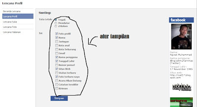 Membuat Profil Facebook Di Blog