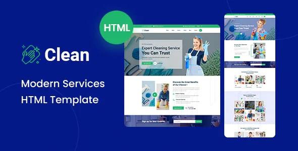 Clean Modern HTML Template
