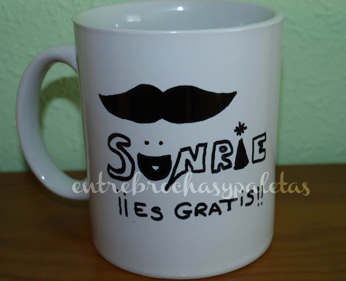 taza decorada diy