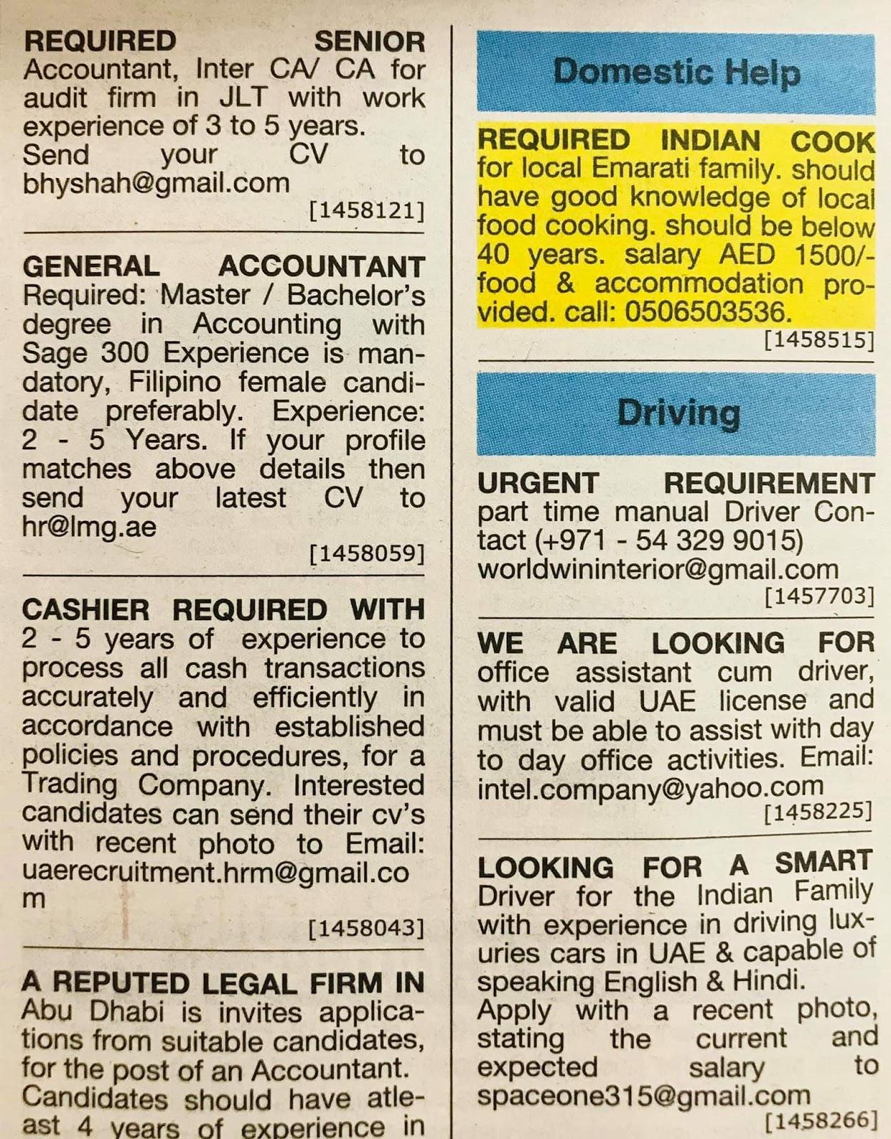 Employement Opportunities in UAE Local Hiring Jobs Khaleej Times-UAE