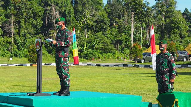 Danrindam XVIII/Kasuari Pimpin Upacara Pembukaan Dikmata TNI AD Gel. II TA. 2020