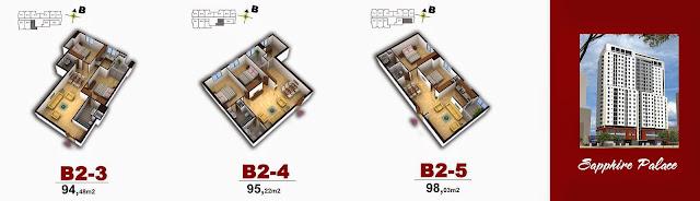 Sơ đồ mặt bằng căn hộ số 4 Chính Kinh
