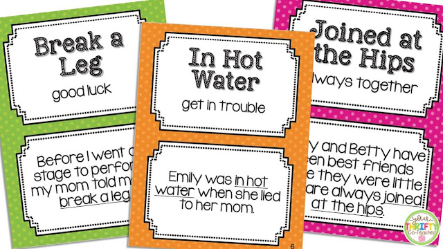 Looking for some engaging idiom activities to use when teaching idioms? Try implementing an Idiom of the Week.