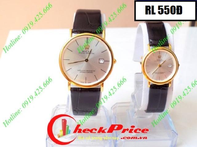 Đồng hồ cặp đôi dây da RL 550Đ