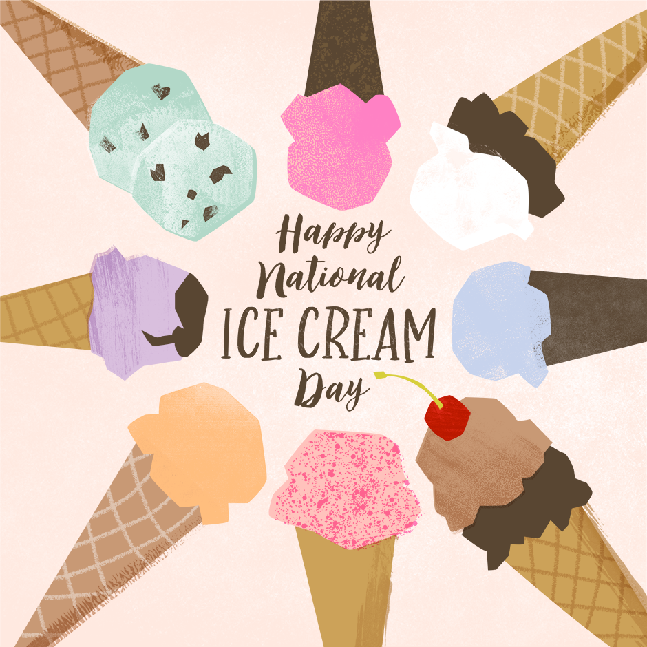 National Ice Cream Cone Day Wishes Photos