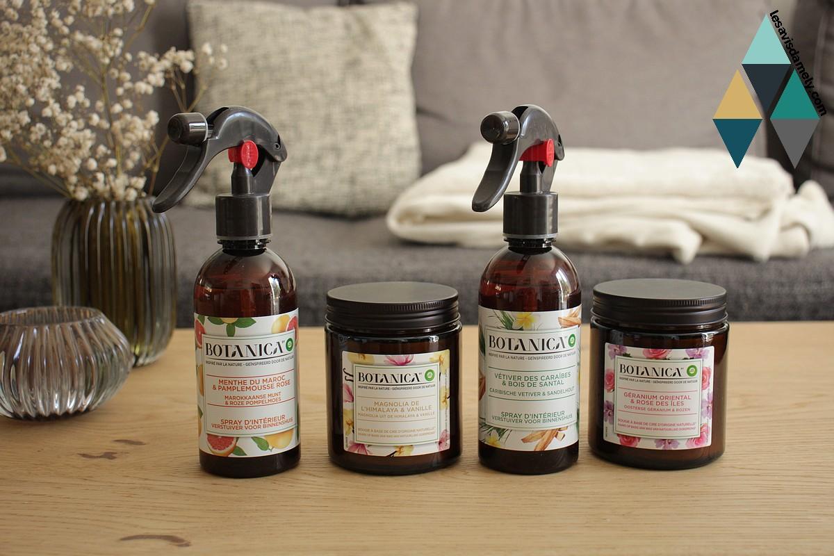 avis et test parfums intérieur bougies botanica