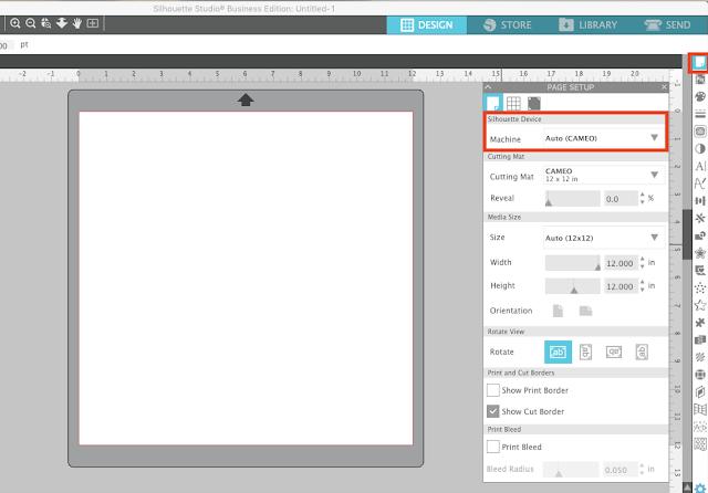 studio v4.3, silhouette studio, silhouette design studio, page setup panel, page setup