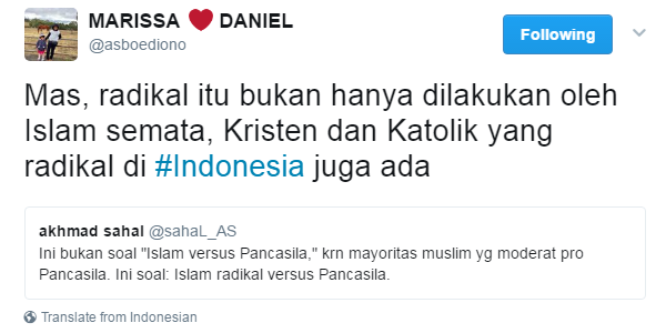 Sudutkan Islam dengan Label Radikal, Aktivis JIL SAHAL AS Kena Skakmat Penganut Katolik