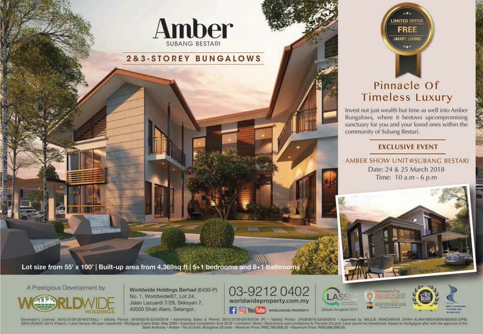 Amber Subang Bestari Bungalows Advertisement