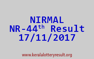 NIRMAL Lottery NR 44 Results 17-11-2017