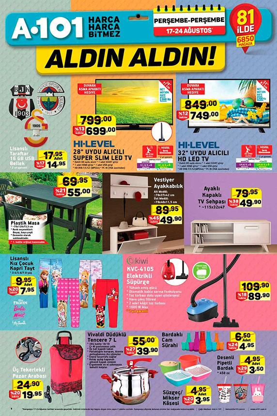 a101 17 Ağustos, A101 indirimli fırsat ürünleri, A101 Aktüel, A101 aktüel ürünler kataloğu, hangi kampanyalar