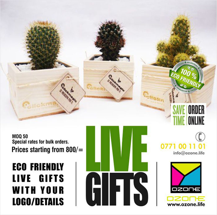 Ozone Branding | Eco Friendly LIVE Gifts with your Logo.