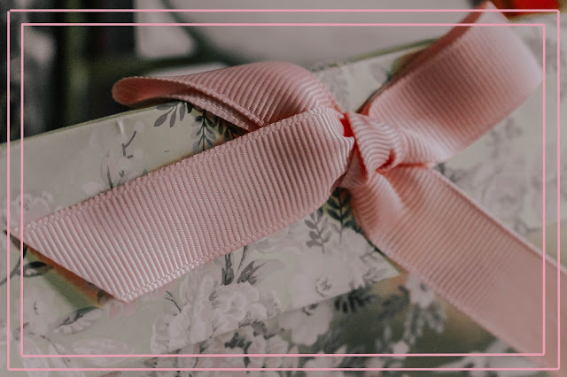 Pretty blush pink gift wrapping bow