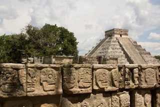 The Aztec have a gruesome history. Pyramids are there aswell.