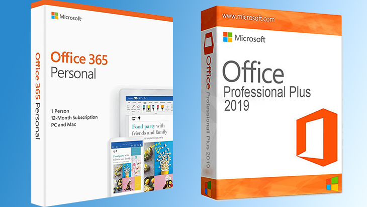 So sánh Office 365 với Office 2016, 2019