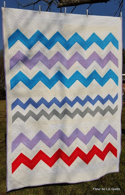 Fleur De Lis Quilts And Accessories Marleys Chevron Quilt Finished