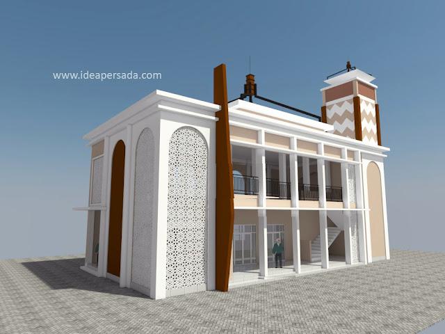 jasa desain masjid kampus minimalis