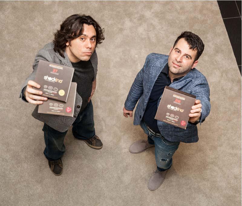 i designer Piergiorgio Carozza e Gabriele Cossu
