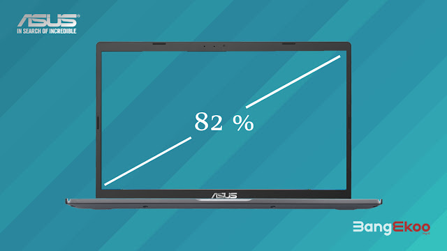 screen to body ratio 82%