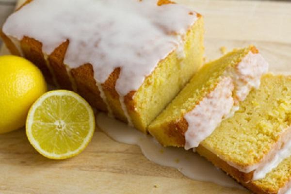 Budin de limon glaseado