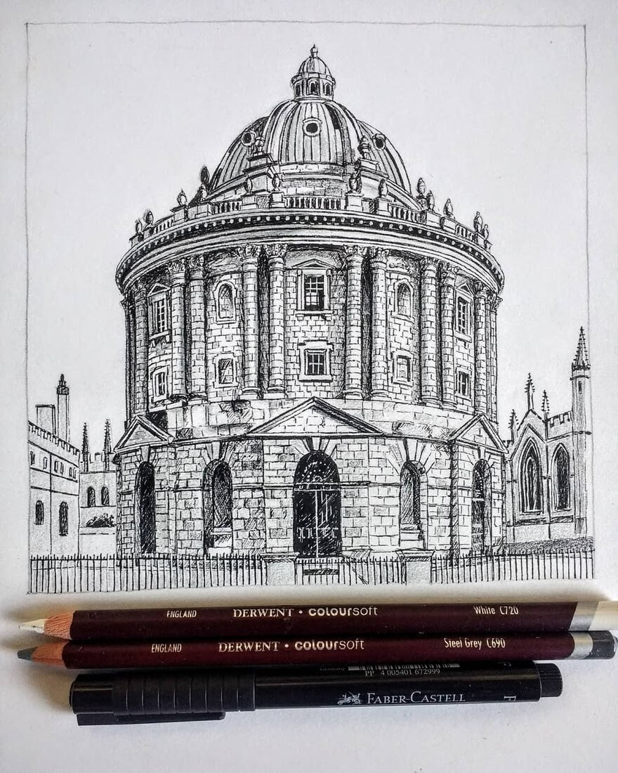13-England-Oxford-Demi-Lang-Architectural-Drawings-of-Interesting-Buildings-www-designstack-co