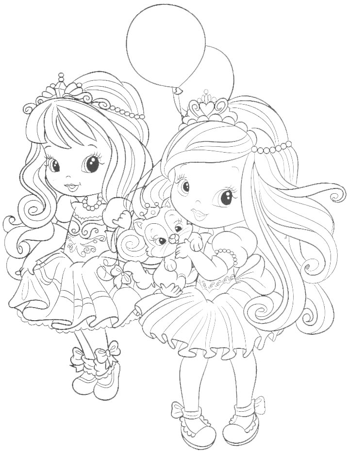 Dibujo para colorear de princesitas