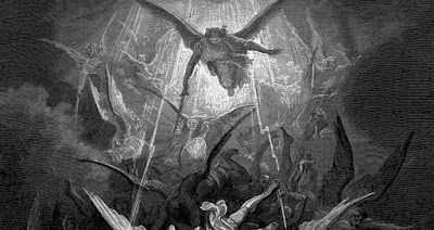 Saint Michael the Archangel casts out demons