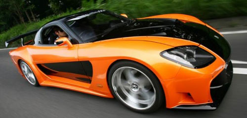 Mazda RX-7 for powerful cars from movies