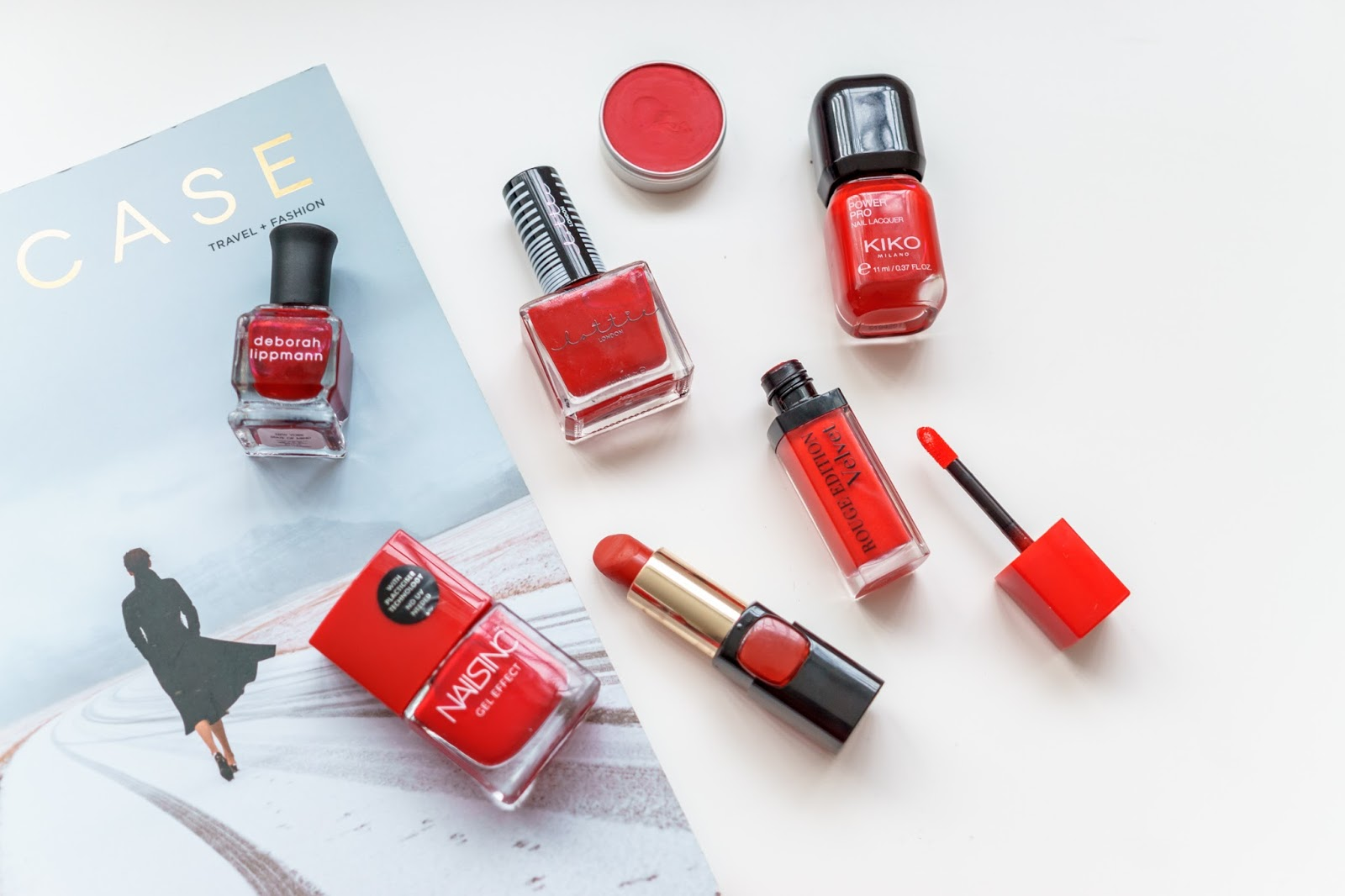 best red nail polishes and red lipsticks christmas holiday season