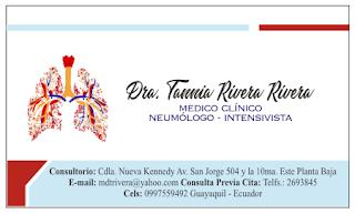 Tarjetas de visita para neumólogos