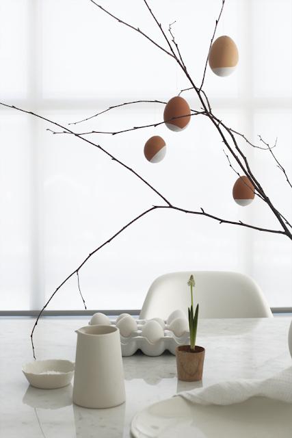 dekoracje wielkanoc stół proste łatwe blog
