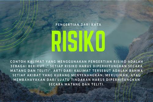 contoh kalimat arti risiko