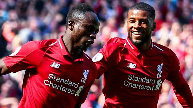 Sadio Mane Liverpool FC Celebrates Goal