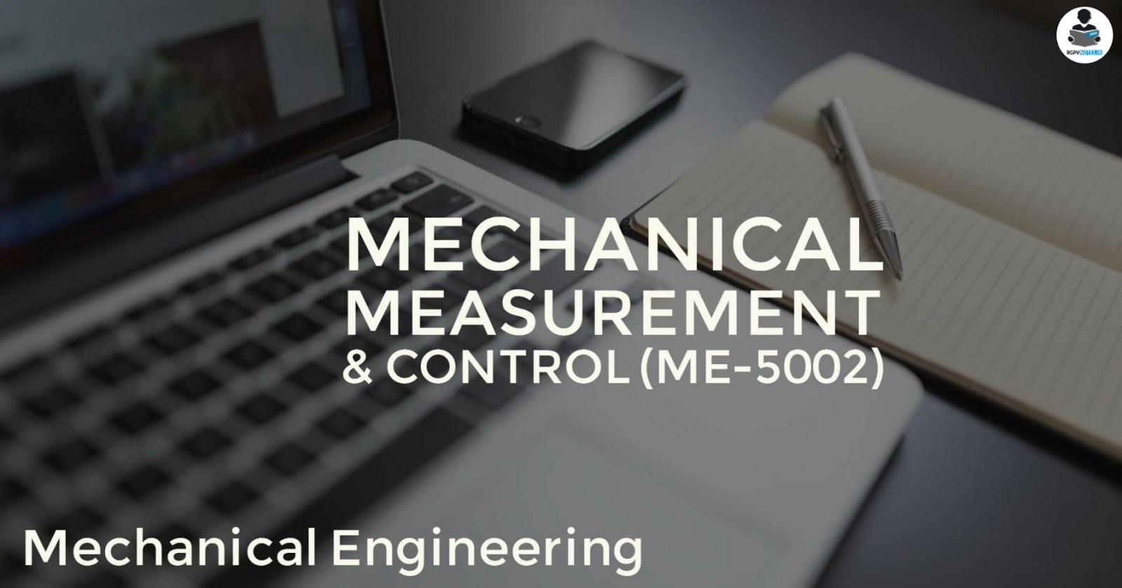 Mechanical Measurement &