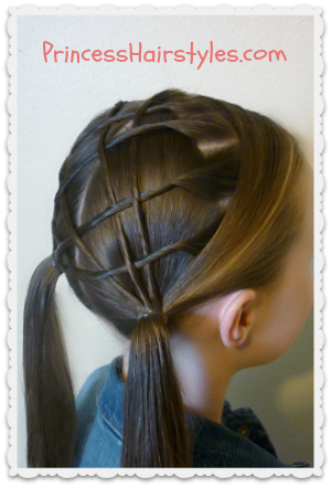 weaving pigtails hairstyle tutorial