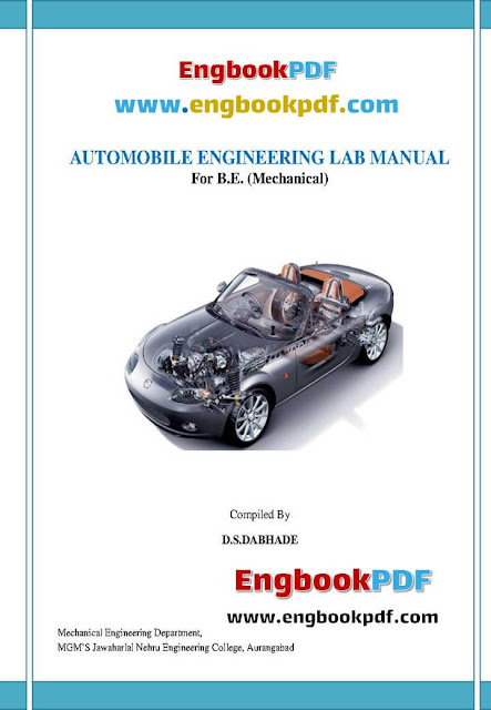Automobile Engineering Lab Manual For B. E. Mechanical pdf