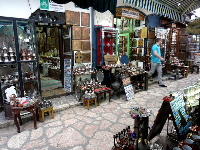 Antique Street Market in Sarajevo Old Town