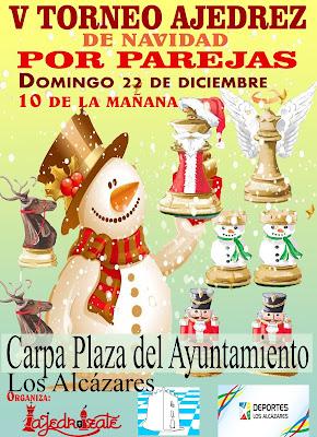 V Torneo Navideño de Ajedrez por parejas Los Alcázares (Domingo 22 Diciembre 2019)