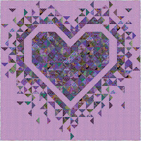 Exploding Heart quilt in the Kaffe Fassett Emperor collection