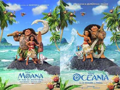 La locandina di '''Moana'', in italiano ''Oceania''