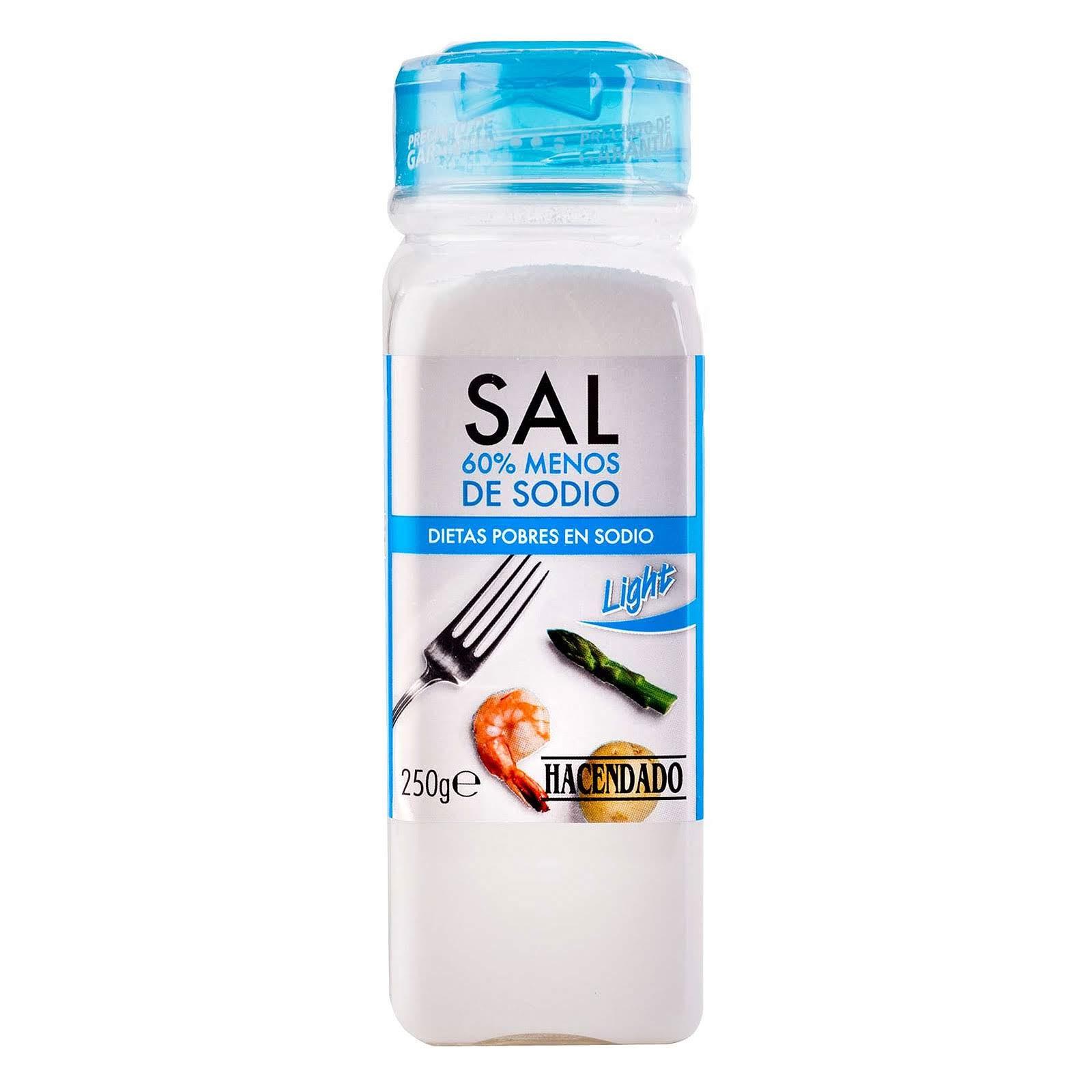 Sal baja en sodio Hacendado