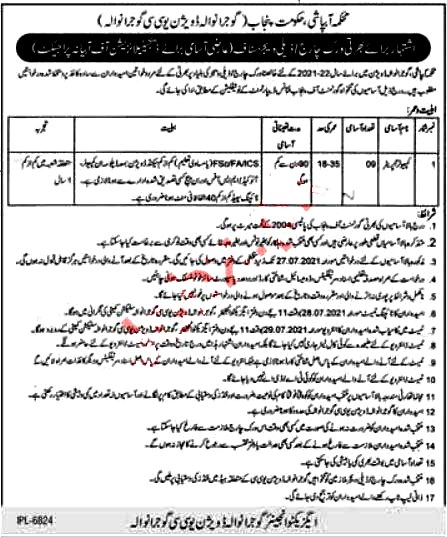 New Jobs in Irrigation Department  Gujranwala 2021