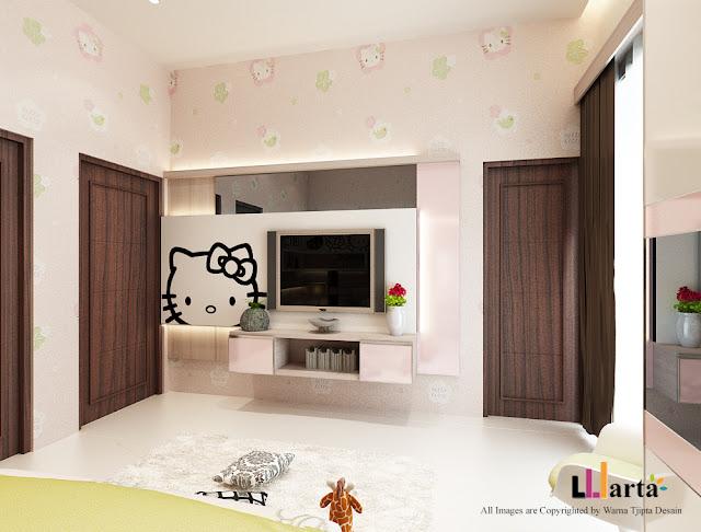 Desain Interior Kamar Anak Hello Kitty