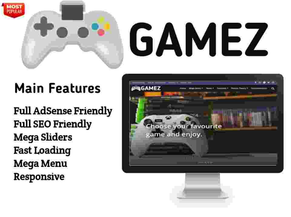 Gamez Blogger Template